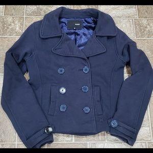 Women's Hurley Navy Button-up Peacoat